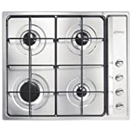Smeg SE64SNX3 60cm Cucina St/Steel Gas Hob with Safety Valves