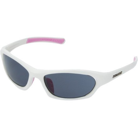 Ryders Eyewear Endorphin Sunglasses, Gloss White Frame/Grey Lens