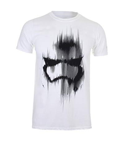 Star Wars Camiseta Manga Corta Trooper Mask Blanco