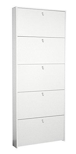 Scarpiera ECO 5 cassetti cm 67 Salvaspazio - bianca