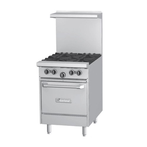 "Liquid Propane Garland G24-G24S Gas Range With 24"" Griddle And Storage Base"