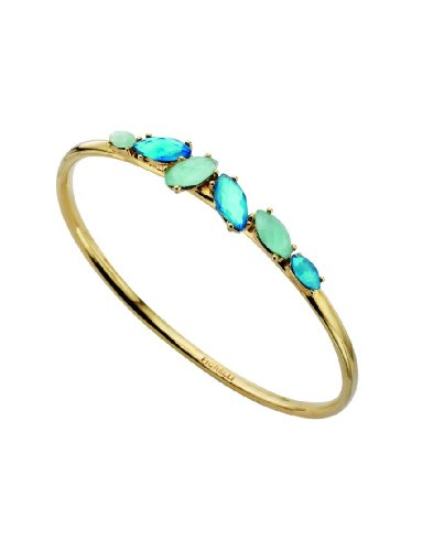 Fiorelli Costume Collection B3257 Ladies' Blue Marquise Crystal Bangle