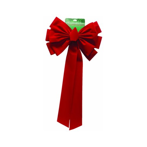Dyno Seasonal Solutions VE325ARDBD 14'' x 28'' 12 Loop Red Bow