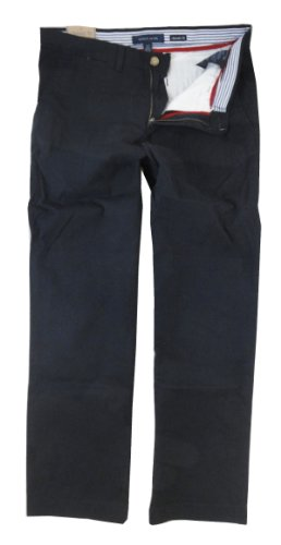 Tommy Hilfiger Academy Flat Front Chino Pants (38 X 34, Modern Navy)