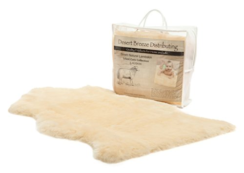 "Premium Quality Soft and Natural Baby Lambskin - Shorn Wool (size LRG: 34""-36"")"
