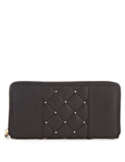 M&S Collection Leather Studded & Quilted Purse