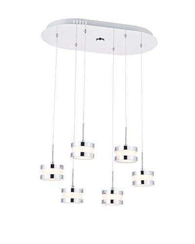 Lights&Deco  Lámpara De Suspensión Vera Plateado