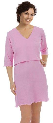 Carriwell Still Big Shirt/ Still Nachthemd in Rosa, Größe L/ XL