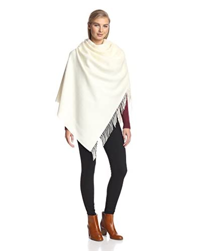 Alicia Adams Alpaca Women's Wool Wrap, Ivory