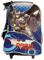 Rolling Backpack-Batman The Dark Knight Backpack-Full Size-Blue