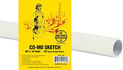 Bee Paper Co-Mo Sketch Roll, 60-Inch by 10-Yards
