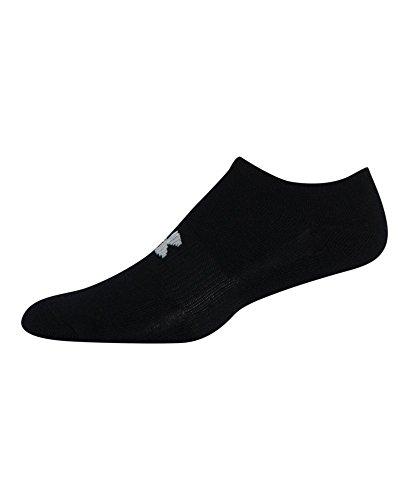 Under Armour Men's HeatGear Solo No-Show Socks (3 Pairs), Black, Medium
