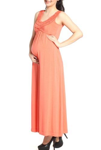 Momo Maternity Women's 'Cora' Ruffle Top Maxi Dress