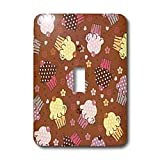 TNMGraphics Food and Drink - Chocolate Cupcake Design - Light Switch Covers - single toggle switch
