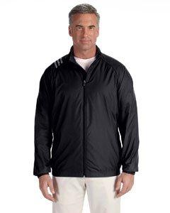 adidas Golf Men's 3-Stripes Full-Zip Jacket - ECRU - S Men's 3-Stripes Full-Zip adidas adidas russia 3 stripes cap