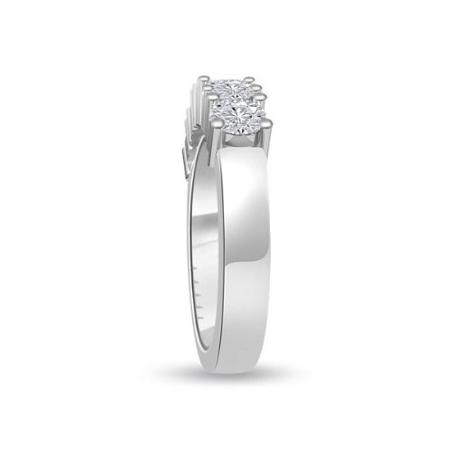 0.60 carat Diamond Half Eternity Ring for Women. F/VS1 Round Brilliant Diamonds in 4 Claw Setting in 18ct White Gold