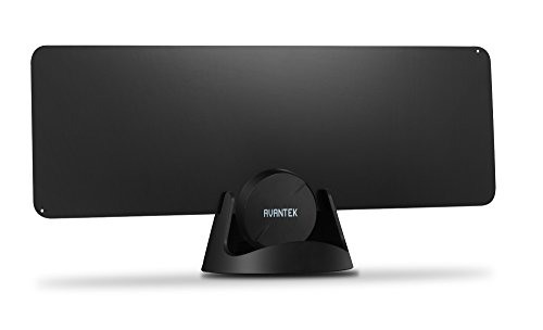 Best Review Of Ultra-thin TV Antenna, Avantek AR-F10 Amplified Digital Indoor HDTV Antenna with 50-m...