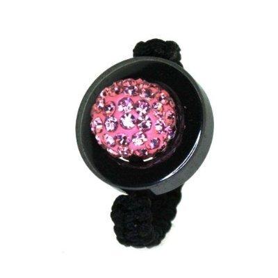 colore-rosa-con-strass-swarovski-dellamicizia-sfera-da-discoteca-in-cristallo-shamballa-treccia-con-