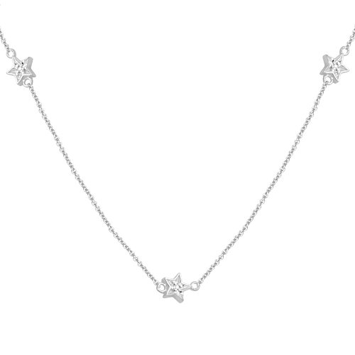 10k White Gold Diamond Chain Component Necklace (1/10 cttw, I-J Color, I3 Clarity), 36