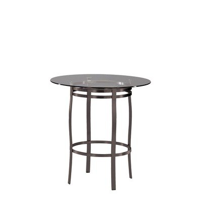 Cheap Bourbon Table Height: Dining Height (28″), Top: 30″ Glass Top, Frame Finish: Copper Metal (Bourbon(Dining)(CopperMtl)(30InchGlassTo)