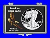 "3″ x 2″ Snaplock Coin Holder for ""American Eagle Silver Dollar"" (Without Coin)"