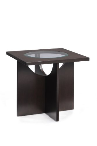 Cheap Magnussen Ozino T1807-01 Wood and Glass Square End Table (T1807-01)