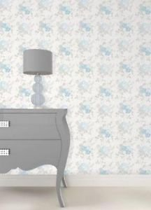 Fine Decor Claudia Wallpaper - Blue / Duck Egg by New A-Brend