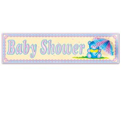 Baby Shower Sign w/Tissue Parasol Party Accessory (1 count) (1/Pkg)