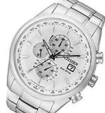 CITIZEN (シチズン) AT8015-54A EcoDrive/エコドライブ ソーラー クロノグラフ 電波時計 ホワイトダイアル メタルベルト メンズウォッチ 腕時計[並行輸入品]