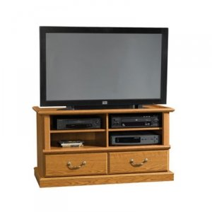 Sauder TV Stand Orchard Hills Entertainment Credenza, Carolina Oak finish (Sauder Tv Stand With Mount compare prices)