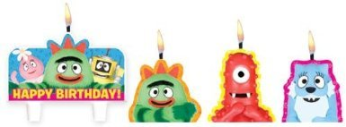 "Amscan Charming Yo Gabba Gabba Character Themed Candle Set, Multicolored, 1.25"" - 1"