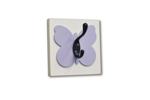 Homeworks Etc Butterfly Single Wall Hook, Lavender front-277548