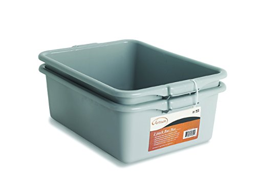 Artisan Utility Bus Box and Storage Bin with Handles, 2-Pack (Bus Tub Metal compare prices)