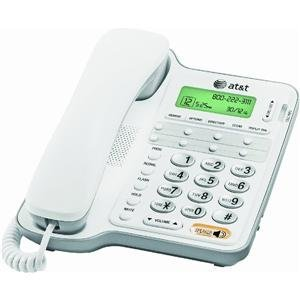 AT&T CL2909 Corded Phone, White, 1 Handset