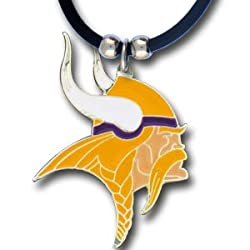 Minnesota Vikings Logo Pendant w/Rubber Cord - NFL Football Fan Shop Sports Team Merchandise
