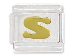 Letter S Italian Charm Bracelet Link