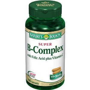 Natures Bounty B-Complex Super With Folic Acid Plus Vitamin C - 100 Tablets (Pack Of 3)