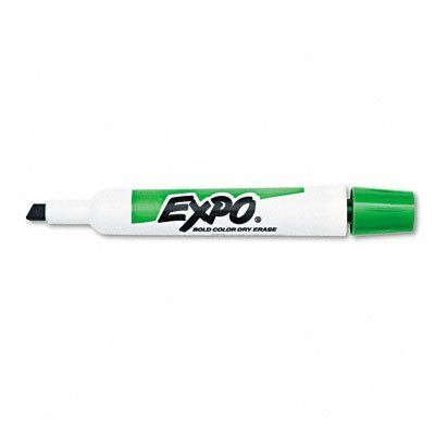 Expo Original Chisel Tip Dry Erase Markers, 12 Markers, Green (83004)