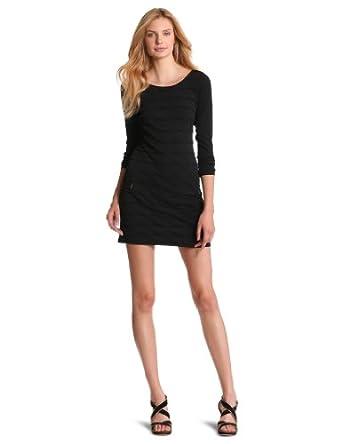 Tracy Reese Women's Pintucked Shift Dress, Black, Petite