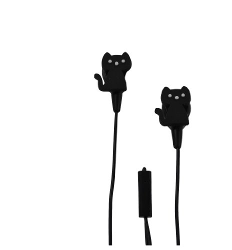 Audiology Au-Msep-Cat In-Ear Molded Stereo Earphones With Microphone For Mp3 Players, Ipods And Iphones (Black)
