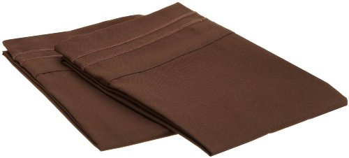 Elegant Comfort® 1500 Thread Count Egyptian Quality 2Pc King Size Pillowcases - All Sizes Available , Add Extra Pillowcases, Chocolate Brown front-1001877