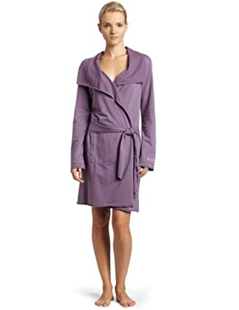 Lucky Brand Women's French Terry Robe,Purple,Small