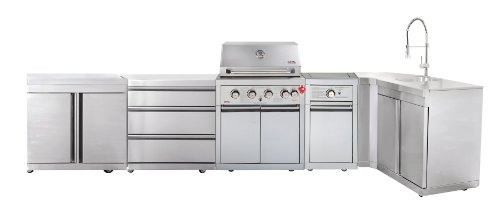 SWISS GRILL Z460SDGC90 Zurich 4-Burner Stainless Steel Grill with Infrared Rear Burner and Rotisserie Kit
