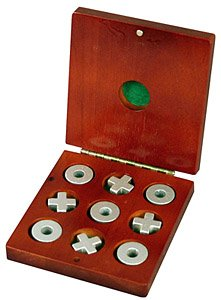 Portable Wood Tic Tac Toe Game Set