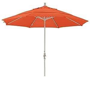 California Umbrella 11 Feet Sunbrella Fabric Aluminum Crank Lift Collar Tilt Market