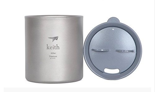 Keith Ultralight Titanium Cup Double Wall Vacuum Water Cup Outdoor Picnic Cups Ti83