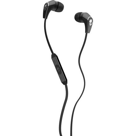 Skullcandy 50/50 Ear Buds With Mic3 For Phones - Retail Packaging - Black