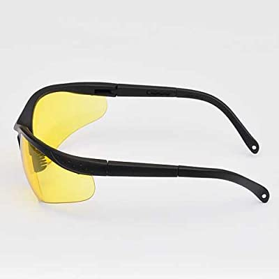 LEDwholesalers UV Protection Adjustable Safety Glasses with Yellow Tint, 7821