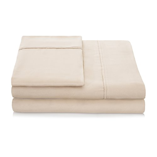 LINENSPA 1500 Series 100% TENCEL Super Soft, Ultra Light Sheet Set - Cal King, Khaki (Ca King Fitted Sheet Only compare prices)