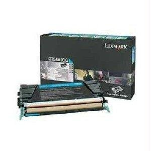 Lexmark - Cyan - Original - Toner Cartridge Lccp, Lrp - For C734dn, 734Dtn, 734Dw, 734N, 736Dn, 736Dtn, 736N, X734de, 736De, 738De, 738Dte Product Type: Supplies & Accessories/Printer Consumables fx9 compatible printer toner cartridge for canon fax100 l120 110